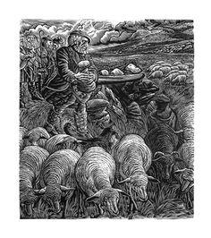 Wood engraving — George Tute, UK