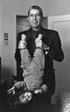"""""""The NME commissioned my dad to photograph Leonard Cohen (1934 – 2016 / Canadian). Dad brought me along to the hotel"""" - by A. J. Barratt, USA"""