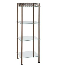 Take a look at this Bronze Narrow Four-Tier Shelf on zulily today!