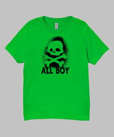 This Apple 'All Boy' Tee - Infant, Toddler & Boys by Micro Me is perfect! #zulilyfinds
