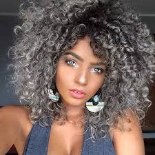Image Result For Curly Black And White Ombre Hair Hair Styles Curly Hair Styles Short Hairstyles For Thick Hair
