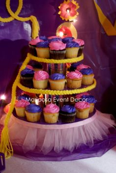 Mariposa Event Decor 's Birthday / rapunzel, tangled - Photo Gallery at Catch My Party Princess Theme Birthday, Rapunzel Birthday Party, Girls Birthday Party Themes, Tangled Party, 6th Birthday Parties, Birthday Cupcakes, Girl Birthday, Princess Party, Birthday Ideas