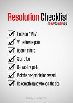 Resolution Checklist #newyearnewyou