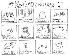 Kevätbongaus. Teaching Aids, Teaching Kindergarten, Nature Activities, Preschool Activities, Finnish Language, Environmental Education, Spring Art, French Lessons, Early Education