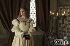 Blanca Suarez attired as Isabel of Portugal, in  'Carlos, King Emperor' (Charles V)
