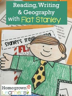 Do you know Flat Stanley? Flat Stanley is only the most fun, well-traveled, and interesting guy around. 3rd Grade Writing, 2nd Grade Reading, Writing A Book, Geography Lessons, Teaching Geography, Flat Stanley, 2nd Grade Classroom, Future Classroom, Teaching Social Studies