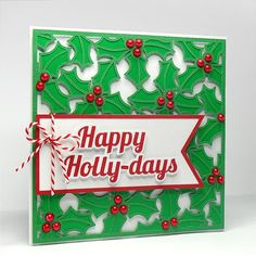 Holly Background - Free Cut File  