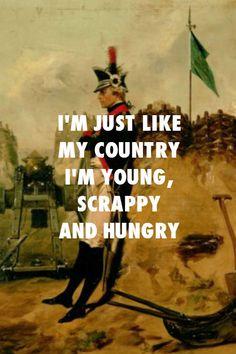 "theatrearthistory:Alonzo Chappel, Alexander Hamilton (1757-1804) in the Uniform of the New York Artillery / ""Not Giving Away My Shot,"" Hamilton (2015)"