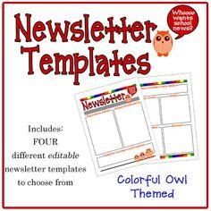 Free Teacher Newsletter Templates   Fall Class Newsletter Template ...