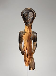Commemorative figure 19th–early 20th century Geography: Democratic Republic of the Congo, Mbulula region Culture: Hemba peoples, Niembo group Medium: Wood Dimensions: H.: 27 7/8 in. (71 cm)
