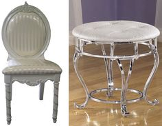 Lecia vanity chair wheels chairs and fresco - Bathroom vanity chair with casters ...