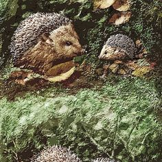 "Exclusive: "" Hérissons-Hedgehogs "" / My Creations Artistic Sculpture Relief fact Main 38  (c)(h) by Olao-Olavia / Okaio Créations"