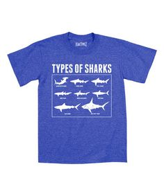 Look what I found on #zulily! Royal Blue Types Of Sharks Tee - Toddler & Kids #zulilyfinds