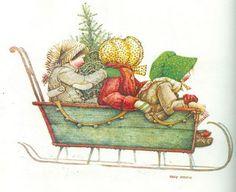 Holly Hobbie sleigh