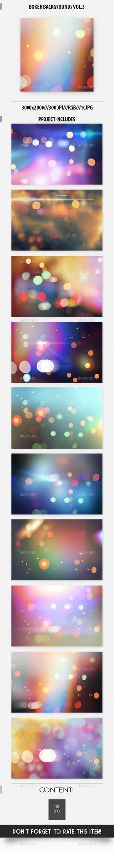 Bokeh Backgrounds Vol.3 - Abstract #Backgrounds Download here: https://graphicriver.net/item/bokeh-backgrounds-vol3/15418263?ref=alena994