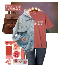 """the future is female"" by riasgremoryx ❤ liked on Polyvore featuring Rodial, Simply Vera, StyleNanda, Smythson, FRUIT, feminist and internationalwomensday"