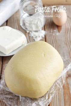Pasta Frolla - perfect for shortcrust tart (pie crust) Italian Cake, Italian Cookies, Italian Desserts, Italian Recipes, Food Cakes, Cupcake Cakes, Muffin Cupcake, Kolaci I Torte, Italian Pastries