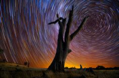 Australian Lincoln Harrison is a self-taught photographer who loves to spend hours with his camera capturing the beautiful Australian night sky. This is the results of extremely long exposure photographs of star trails.