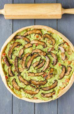 Sublime pizza guacamole e funghi
