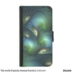 The world of spirals, Fantasy Fractal Wallet Phone Case For Samsung Galaxy S5