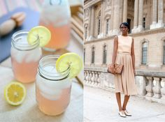 old fashioned pink lemonade / streetstyle aesthetic   food + fashion pairing from miss moss