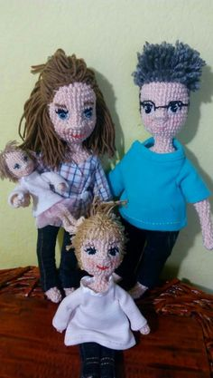 Crochet doll family Crochet Dolls, Crochet Projects, Roses, Fictional Characters, Cook, Pink, Rose, Crochet Doilies