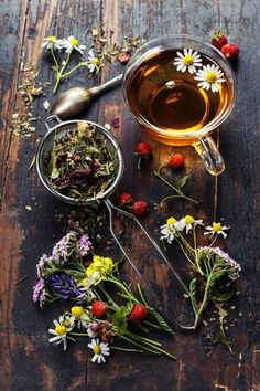I can always find happiness in flowers And warmth from a cuppa tea