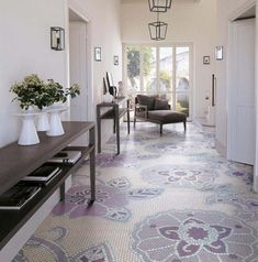 I love these coloured floor tiles