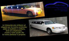 Le Limousine più richieste ed eleganti per la vostra cerimonia, addio al nubilato o celibato, feste di compleanno, evento o tutto quello che la vostra fantasia vi propone.