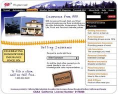 A long time ago, I designed AAA of California's website. I did the whole thing from IA to Creative.