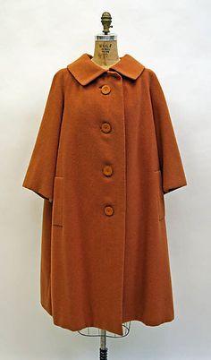 Coat  House of Dior  Yves Saint Laurent   spring/summer 1958