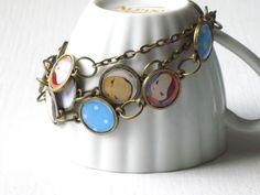 wrap bracelets around a teacup to add some cuteness