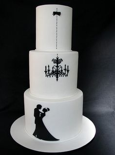 black and white wedding cakes | Black & White Wedding Cakes | Get Married Cakes