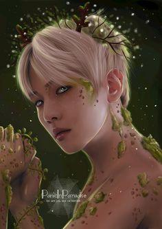 Baekhyun in hallowen is art 🎨💐 Chanbaek Fanart, Baekhyun Fanart, Yoonmin Fanart, Kpop Fanart, Baekyeol, Foto Bts, Chanyeol, Wattpad Background, Exo Anime