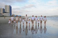 Large family walking on beach - Cherry Grove | by Ryan Smith Photography