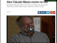 Ator Cláudio Marzo morre no Rio