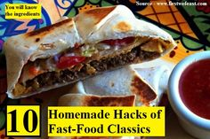 While widely obsessed about and craved, the Taco Bell Crunchwrap Supreme is not an anomaly when it comes to the home kitchen. Taco Bell Crunchwrap Supreme, Daily Meals, Copycat Recipes, Sandwiches, Tacos, Lunch, Life Tips, Life Hacks, Homemade
