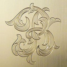 leaf script monogram from Armstrong Engraving