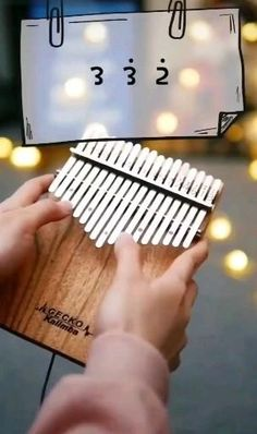 Kalimba - 17 Keys Thumb Piano, Perfect Christmas Gift for Kids and Adult Ancient African Mbira Finger Piano Made with Solid Mahogany Wood Including Study Instruction, Tune Hammer and Carrying Bag Cool Music Videos, Music Video Song, Good Music, Instrumental Music, Music Chords, Piano Music, Piano Keys, Music Music, Ukulele