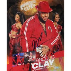 Brodus Clay w/ Ladies Signed 8x10 Photo (Signed in Blue)