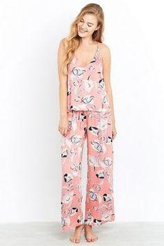 Minkpink - Bas de pyjama fleuri Field of Dreams - Femme 42 #modasto #giyim #moda https://modasto.com/minkpink/kadin/br36ct2