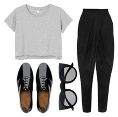 """""""Blackfashion"""" by lejlamahmutovic on Polyvore featuring FitFlop, Monki and Balmain"""
