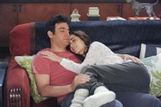 Josh Radnor as Ted and Cristin Milioti as The Mother.