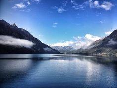 Lago Espolon, Patagonia chilena.