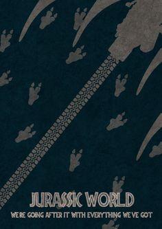 Raptor Squad Jurassic World Poster by IndigoLizardStudio on Etsy