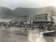 Cape Town : Waterfront Rights to this picture are owned by the Western Cape Provincial Archives Cape Town: Adderley Street Rights to this. Old Pictures, Old Photos, Vintage Photos, City By The Sea, Cape Town South Africa, Table Mountain, Most Beautiful Cities, My Land, Africa Travel