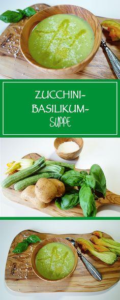 Zucchini-Basilikum-Suppe - Sommer & Suppe passen perfekt, wie es dieses glutenfreie, vegetarische & einfache Rezept beweist. Lecker! | cucina-con-amore.de
