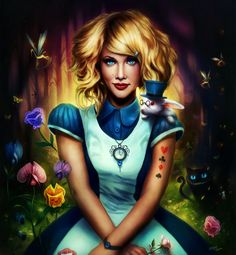 Alice in Wonderland Pictures. These Alice in Wonderland still pictures have brought the whole story to life with their vivid colors and perfect expressions. Lewis Carroll, Alice In Wonderland Paintings, Alice In Wonderland Pictures, Wonderland Alice, Poster Flamingo, Poster Cat, Illustrations, Illustration Art, Molduras Online