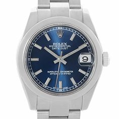 Women's Certified Pre-Owned Watches - Rolex Midsize automaticselfwind womens Watch 178240BLSO Certified Preowned >>> For more information, visit image link.