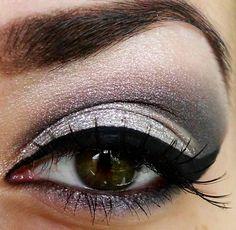 Love a metallic smokey eye